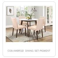 COS-AMBROZI DINING SET-PIGMENT